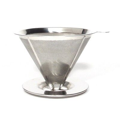 Pour Over Coffee Filter Stainless Steel Reusable Coffee Maker Dripper Paperless