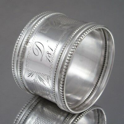 Antique French Sterling Silver Napkin Ring, Cécile Gruyer Master Silversmith