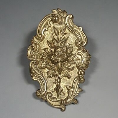 Antique French Rococo Gilded Bronze Ornament, Bouquet of Flowers, Carnation