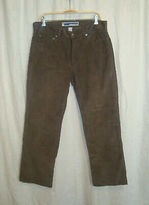 Men's GAP STRAIGHT FIT brown casual corduroy jeans trousers W33 L30 great co