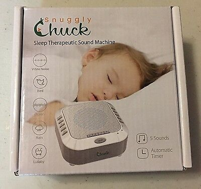 White Sound Therapy Noise Machine Sleep Soothing Machine Snuggly Chuck NEW