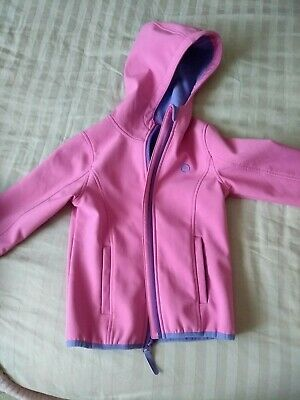 Softshell Girl pink jacket Size 5-6 Crane windproof breathable water reppelent