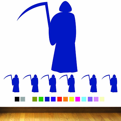 Grim Reaper / Death Pack Of 10 Halloween Wall Stickers Vinyl Car Decals