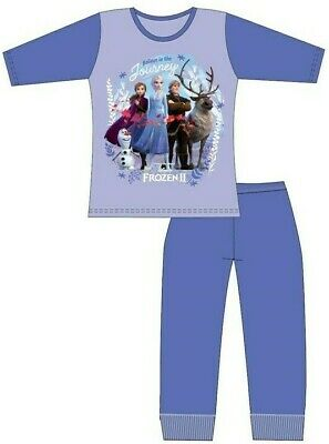 Girls Official Disney Frozen 2 Pyjamas 4-5 / 5-6 / 7-8 / 9-10 Years PJs Set NEW