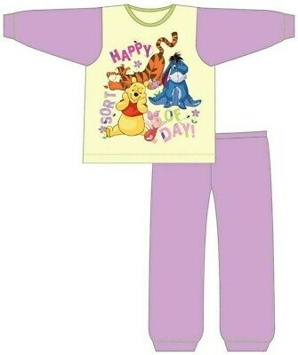 Girls Infant Kids Winnie The Pooh Pyjamas Size Age 18 Months-5 Years Disney PJ
