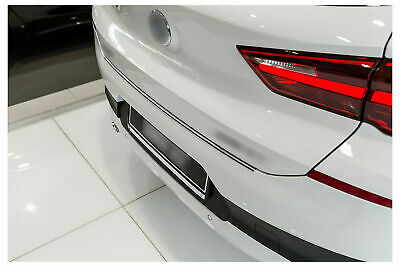 For 5er G31 Estate 2017up Stainless Steel CHROME Rear Bumper Protector Sill Scratch Guard Cover