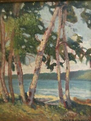 """Bay of Quinte"" -Original Oil Painting by Canadian Artist Manly MacDonald b 1889"