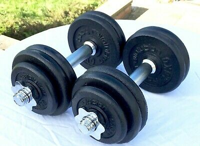 Cast Iron Dumbbell Weight Set 50kg Fitness Home Gym Weights Dumbbells Training