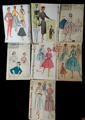 Vintage 50's Simplicity McCall's Butterick Sewing Patterns Lot of 7 Uncut FF