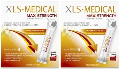 XLS-Medical Max Strength 120 Sachets (60 day supply) EXPIRY 08/2019 RRP £52.00