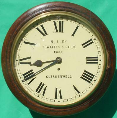Thwaites & Reed North London Railway 8 Day Fusee Dial Clock 13886