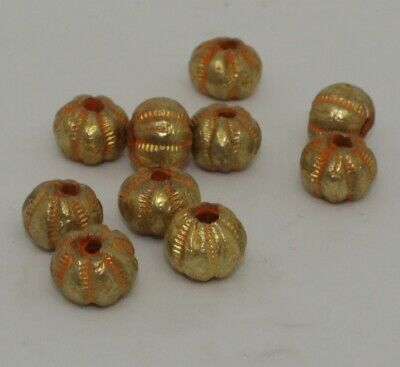 10 X Post Medieval Gold Beads - 34454