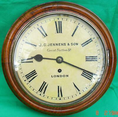 J.c.jennens & Son Great Sutton St London 8 Day Fusee Dial Clock