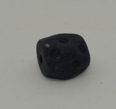 Quality Large Ancient Carved Lapis Bead - 06