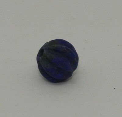 Quality Large Ancient Carved Lapis Bead - 03