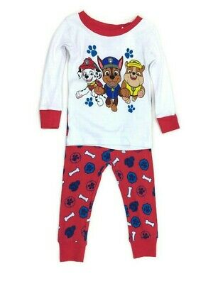 NWT Old Navy Toddler Boy Red White Paw Patrol 2pc Pajama Outfit