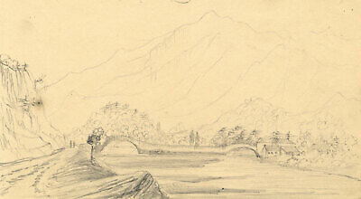 Alfred Swaine Taylor, Grange & Castle Crag Borrowdale Lake District 1833 dessin