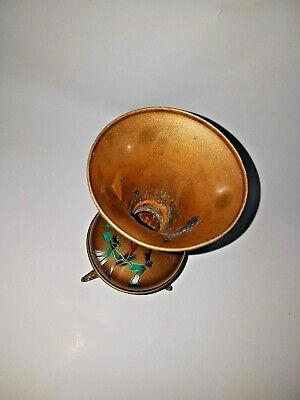 Antique iron , Hand Painted Bud Vase, Made in India, Beautiful copper color