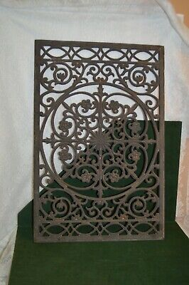 Antique Cast Iron Heating Grate Air Return 17 1/2 by 26 1/2 Inches