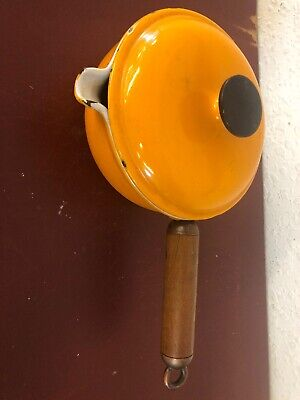 Le Creuset Flame Orange Enamel Pot With Lid P20 Made in France No 17