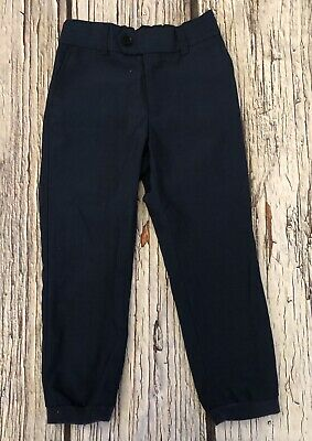 Age 5 Navy Blue Next Signature Formal Cuffed Trousers Hardly Worn 4-5