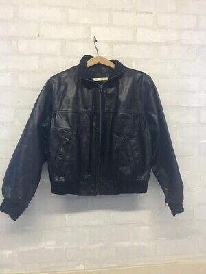 Mens Black Soft Leather AVIATRIX Jacket real leather. Coat Bomber Jacket