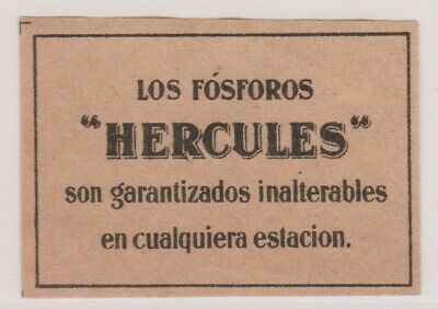 Old Matchbox Label Sweden? For South  America?, Hercules