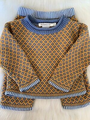 Skelagamink Winter Set Girls Sweater Outfit Size 9-12m