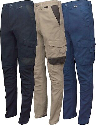 """New Mens Slim Fit Cargo Chinos Twill Work Combat Trousers 30""""- 40"""""""