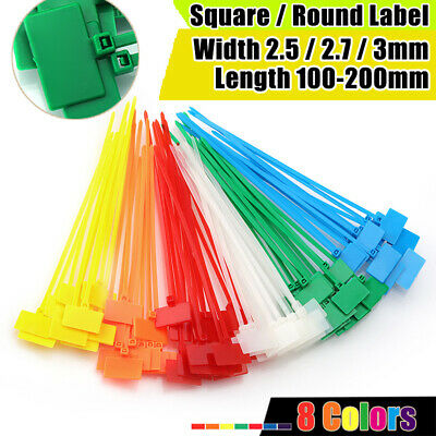 Marker Label Cable Ties Zip Tie Wraps Colorful Nylon 2.5 2.7 3mm Wide Write On