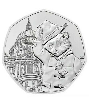 PADDINGTON BEAR 50p PENCE ST PAULS COIN 2019 UNCIRCULATED FROM SEALED BAG