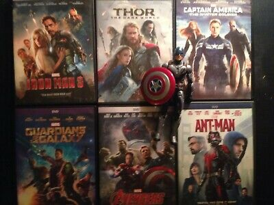 Marvel Studios MCU Phase 2 DVD Collection Iron Man 3 Avengers Ultron Antman