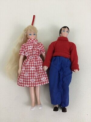 """Horsman Doll House Family Mom Dad Mother Father Playing For Keeps 6"""" Man Woman"""