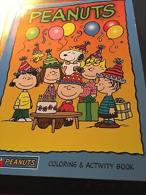 Coloring Activity Book~ PEANUTS Party ~2006 ~Charlie Brown~Linus~Pig-Pen~Snoopy