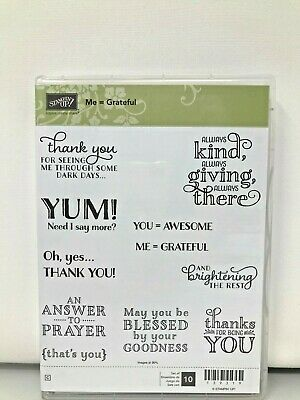 Cat Expressions Thanksgiving Rubber Stamp Thankful K18911 WM