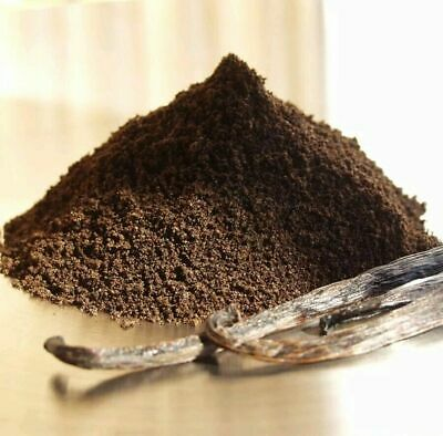 Organic Aromatic Bourbon Madagascar 100% Ground Raw Vanilla Bean Pods Powder