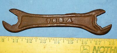 Old Antique Adriance Platt 768A farm implement plow tractor wrench tool Moline