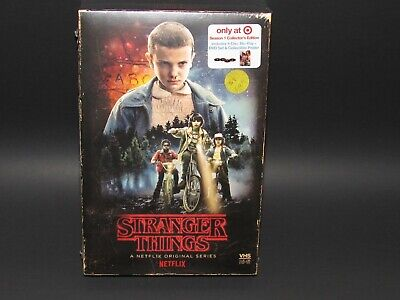 Stranger Things Season: 1 Collector's Edition 4 Disc Blu-ray/DVD Set/Poster
