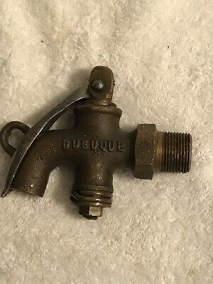 Vintage Solid BRASS Valve Faucet Oil Gas Spigot Morrison DUBUQUE # 2 USA