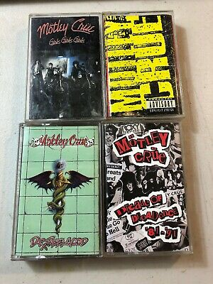Motley Crue Lot Of 4 Cassette Tapes ~ Dr. Feelgood, Girls + More