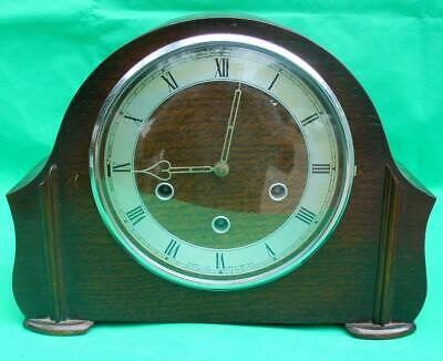 ENGLISH 1920s WESTMINSTER CHIMES 8 DAY MANTLE CLOCK