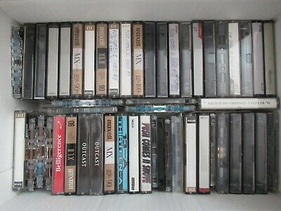 Lot of 50 Used Audio Cassette Tapes Sold As Blanks with Pre-recorded Content