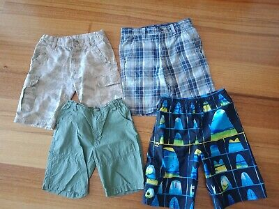 Boys Size 7 & 8 Shorts X 4 pairs Billabong milkshake Excellent Used Condition