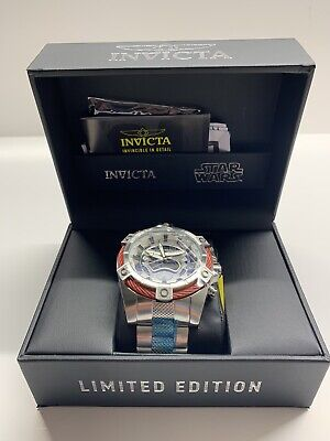 Invicta Star Wars Men 52mm Stainless Steel, Silver Dial Quarts 27220