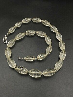 A ancient roman  crystal necklace made from a collection of beautiful