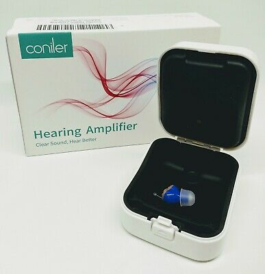 Coniler Digital Hearing Amplifier With 6 Channels Adult Left Ear Blue ITE