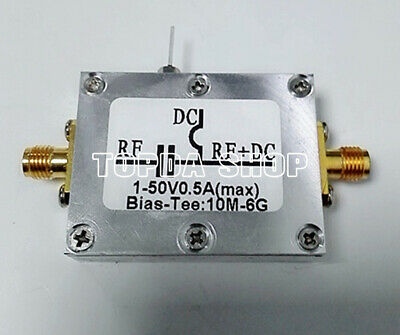 For Bias Tee 10MHz-6GHz RF Splitter Bias Coaxial Feed Low Insertion Loss