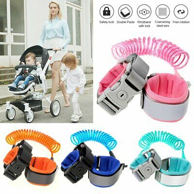 Kids Baby Harness Anti-Lost Wrist Band Child Safety Strap Waist Leash With Lock