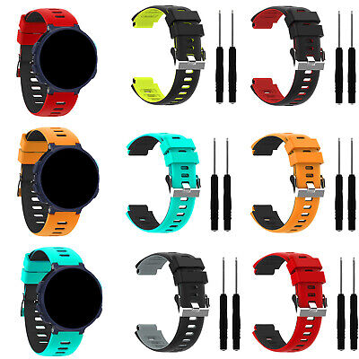 Silicone Two-color Wristband Strap Bracelet For Garmin Forerunner 235 620 735xt