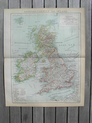 Canute Ancient Map of Great Britiain England Scotland Wales Reprint 10x8 inch